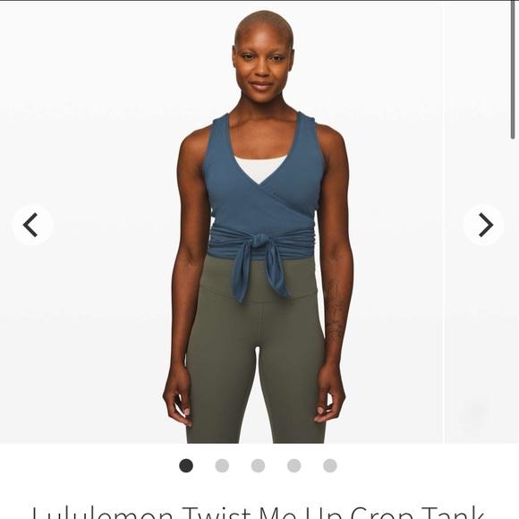 NWT Lululemon Twist Me Up Crop Tank Code Blue Sz 4